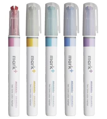 1つのペン先に2種類のカラーを備えた