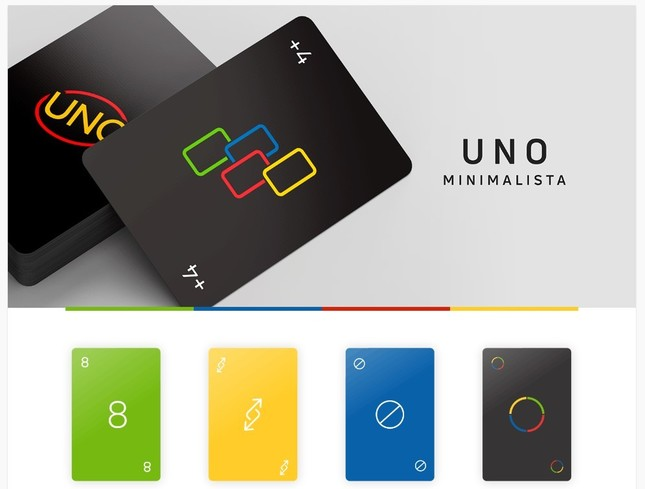 スタイリッシュデザインの「UNO MINIMALISTA」が話題(画像はWarleson OliveiraさんのBehanceページより)
