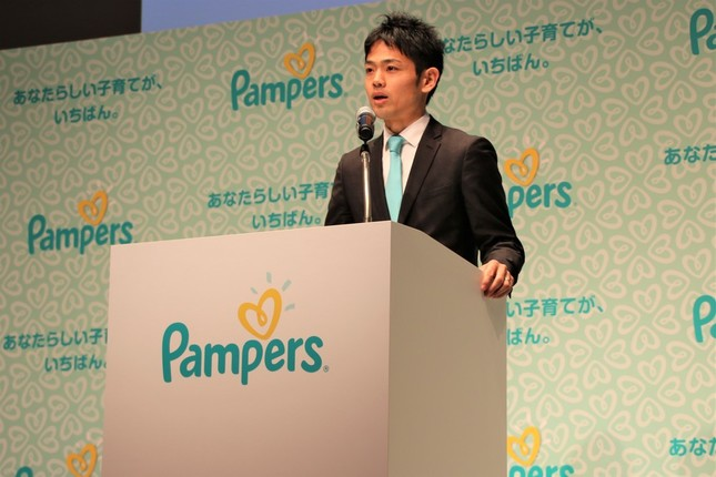 P&Gベビーケアアソシエイトブランドディレクターの瀬戸温夫さん