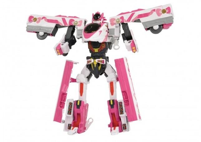 ロボットに変形するプラレールになった