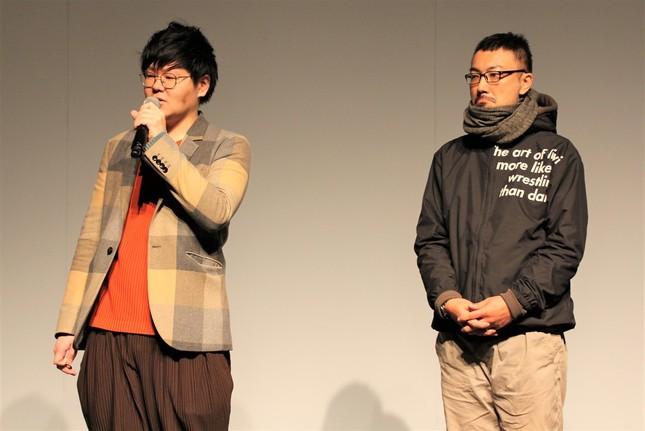 「Stillness」を手掛けた松山周平さん、大野哲二さん(左から)