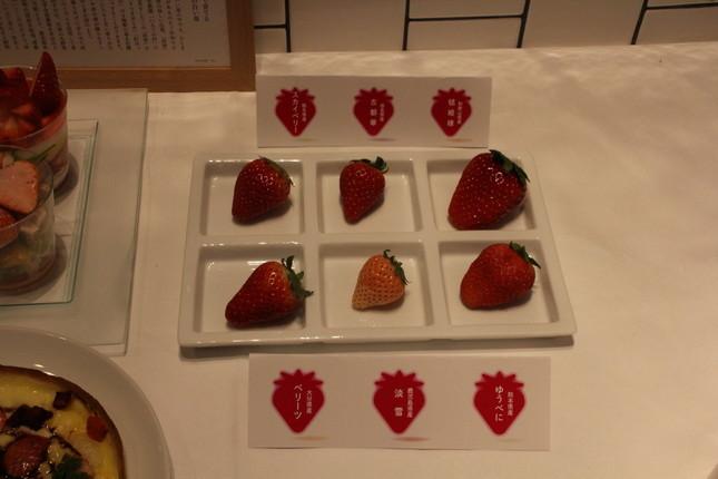 6産地のブランドイチゴ食べ比べ