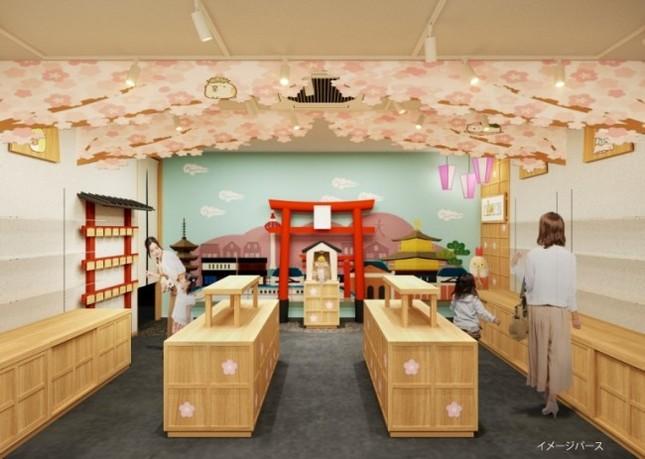 桜がメインコンセプトのショップオープン