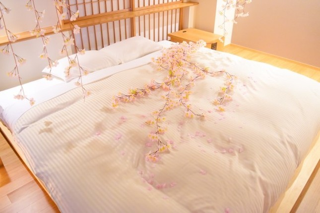 ピンクの桜で装飾