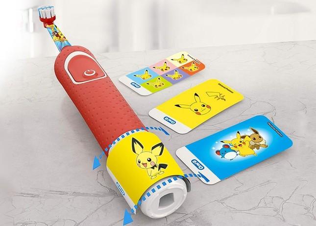 電動歯ブラシのハンドルに貼れる「ポケモン特別デザインンシール」