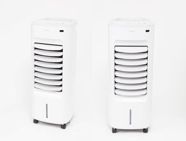 冷風扇+加湿温風機、夏も冬も快適に