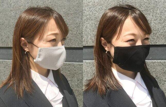 炭の繊維を使用した天然素材のマスク