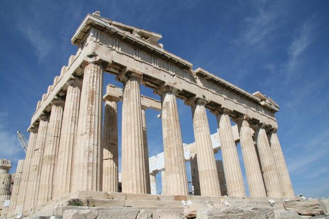 ギリシャの象徴、アテネのパルテノン神殿