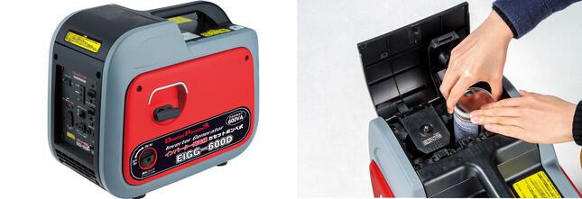 入手や保管のしやすいカセットボンベで安全に発電