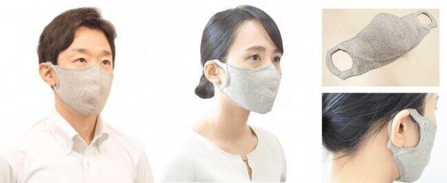 メイク移りが目立ちにくい「100回洗える夏マスク/hamon AG マスク」