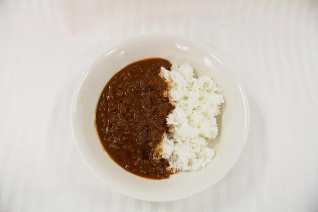 「大豆のお肉」を使用したスパイシーなカレー