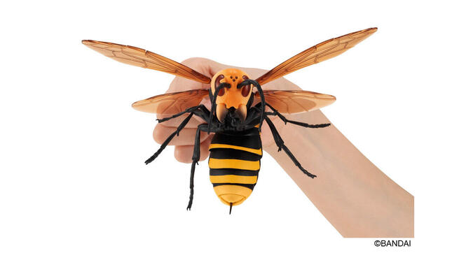 昆虫界最強「すずめばち」がビッグサイズのフィギュアに