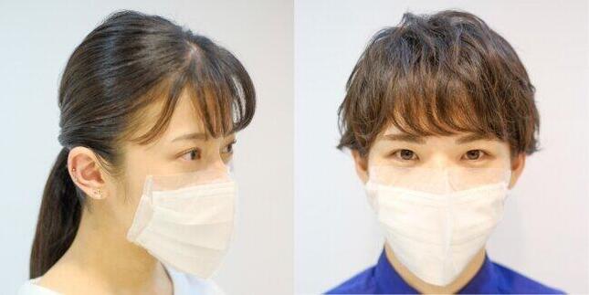 耳にかけないで着用できるマスク「salone de mask(サロン・で・マスク)」カバータイプ