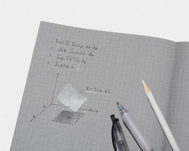 灰色の紙に黒と白の文字で書き分け