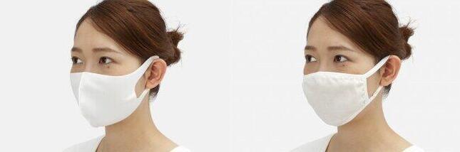 (左)接触冷感ひんやりクールマスク、(右)抗菌防臭ムレにくいガーゼマスク