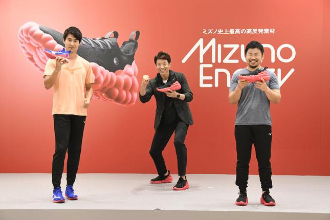 ゲスト参加した飯塚翔太さん、松岡修造さん、田中史郎さん