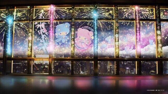 東京タワー×キキ&ララ、デジタル打ち上げ花火開催