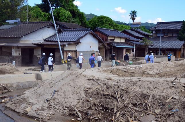 豪雨で自宅が浸水、トイレをどうするか(写真は2017年の九州北部豪雨の被災地)