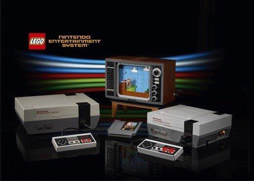 「NES」の特徴的なカセットスロットやコントローラーもレゴブロックで再現