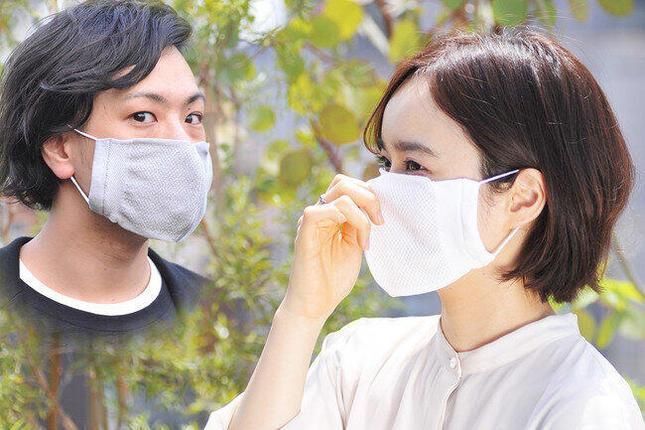 マスクに抗菌効果のある銀繊維「純銀の糸ミューファン」を使用