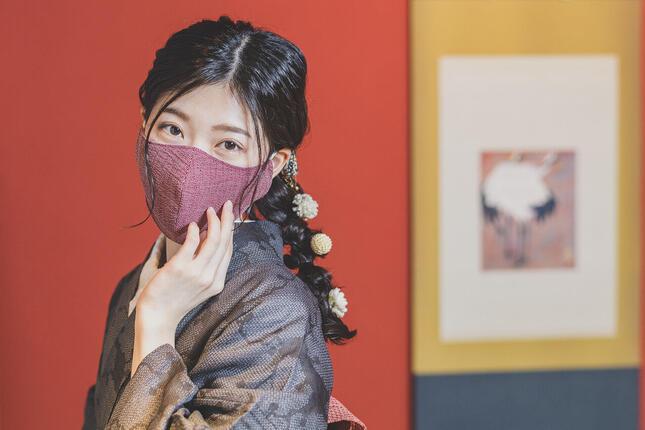 「モダン和紙織りマスク」