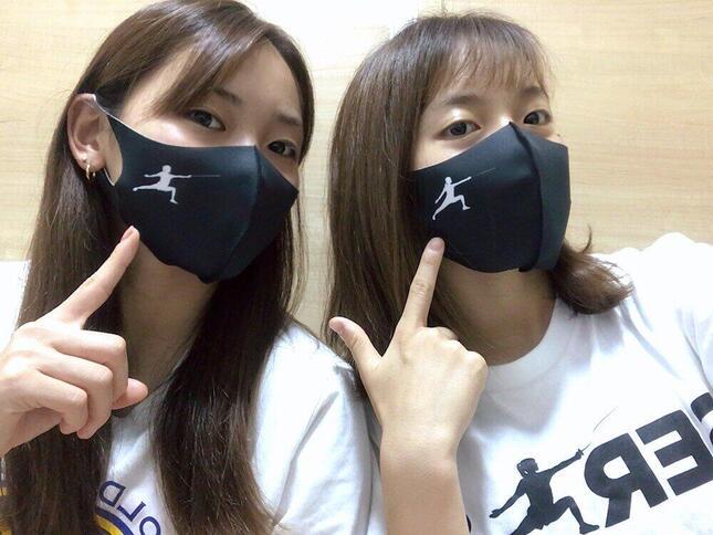 フェンシングで東京五輪出場を目指す東姉妹のマスク