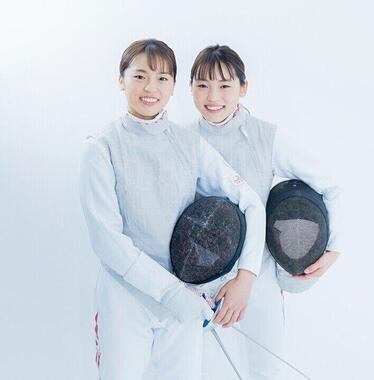 フェンシングの東莉央・晟良選手