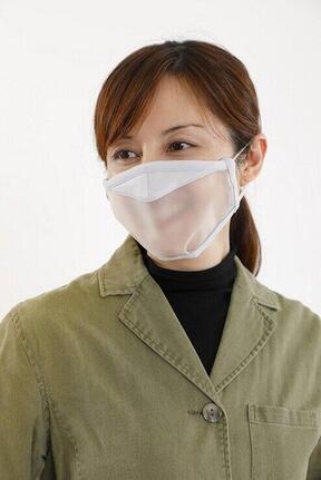 飛沫対策と呼吸を両立した「透明マスク」