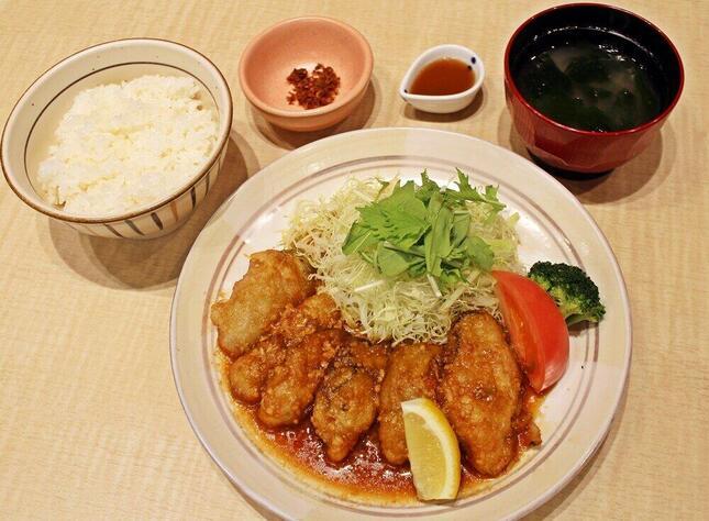 「かきの醤油麹炒め定食」