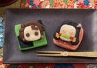 「鬼滅の刃」のかわいいスイーツ 「炭治郎」はチョコ味、「禰豆子」はイチゴ味