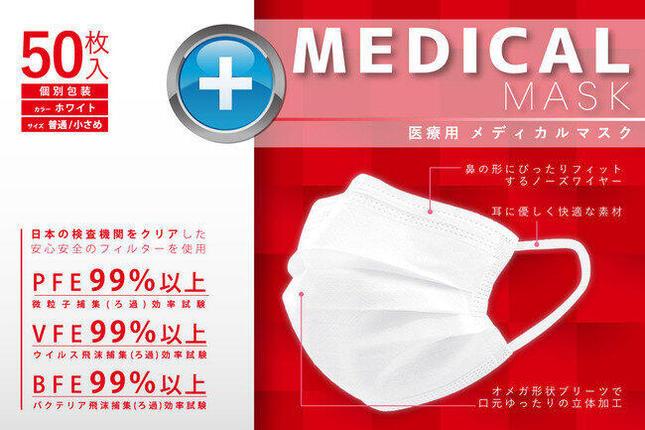安心かつ高性能の「医療用メディカルマスク」
