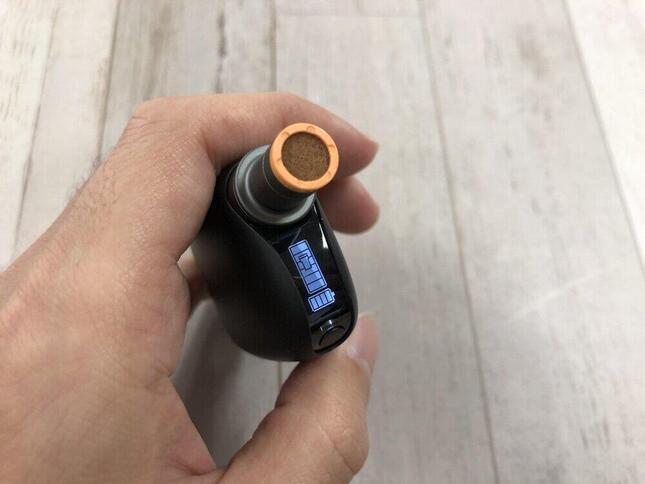 直感的に「たばこカプセル」とバッテリーの残量がわかるディスプレー