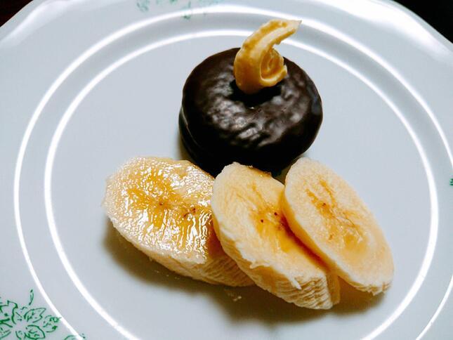 ホットバナナバターアレンジ加熱前(画像2)