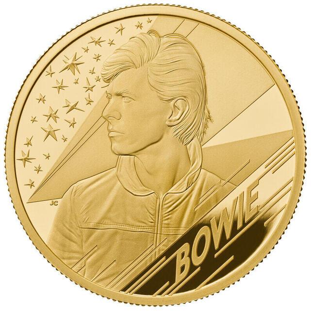 英音楽界のレジェンド「デヴィッド・ボウイ」がコインでよみがえる