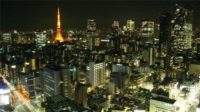 東京の夜景を見ながら…