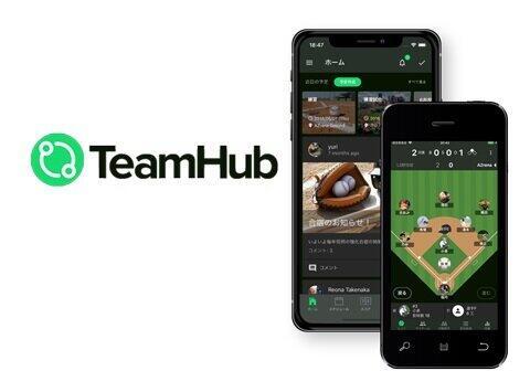 スポーツマネジメントアプリ「TeamHub」