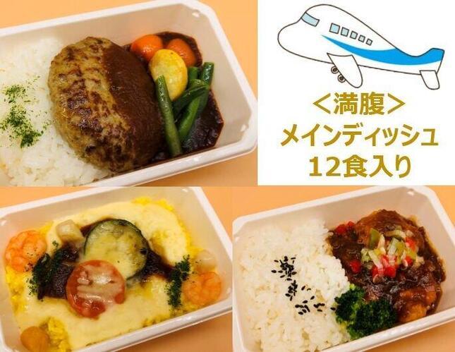 「ANA国際線エコノミークラス機内食メインディッシュまんぷく3種詰め合わせ」(画像はANAの提供)