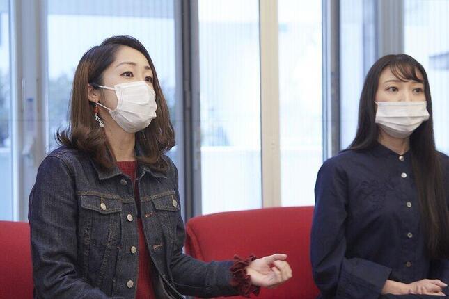 (左から)作品の魅力について語る福宮さん、広山さん(c)映画「truth~姦しき弔いの果て~」パートナーズ/写真・ハラダケイコ