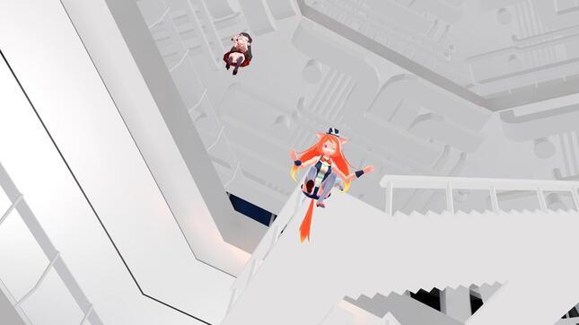 階段を降りる手間を惜しんで飛び降りても、ふんわりと落下して無事に1階にたどり着ける