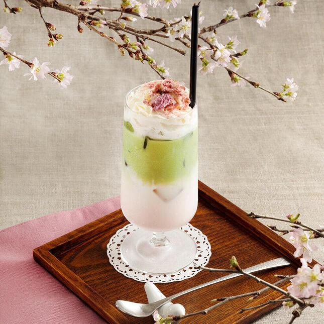 桜づくしの「さくら抹茶カフェ」