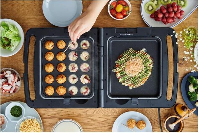 2つの料理を同時に調理、コンパクトに折りたためるから片付けもしやすい