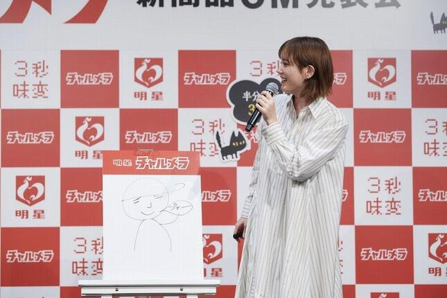 本田さんが3秒で描いた「チャルメラおじさん」(画像3)