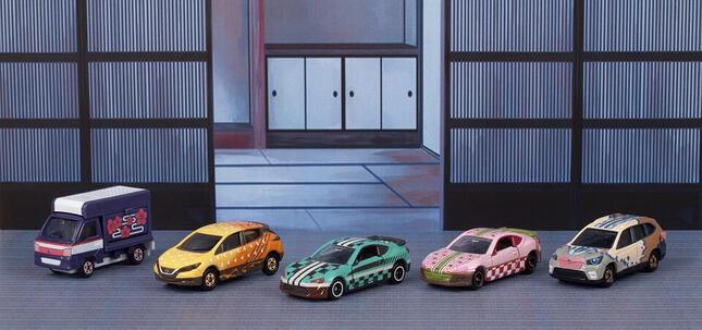 各キャラの特徴に合わせて車種をセレクト