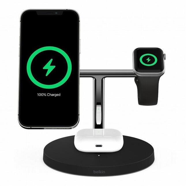iPhone 12シリーズはもちろん、AirPodsやApple Watchの同時充電も