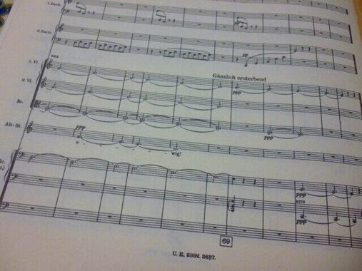 第6楽章の最後は消え入るように、アルト独唱の『永遠に・・・』が繰り返される