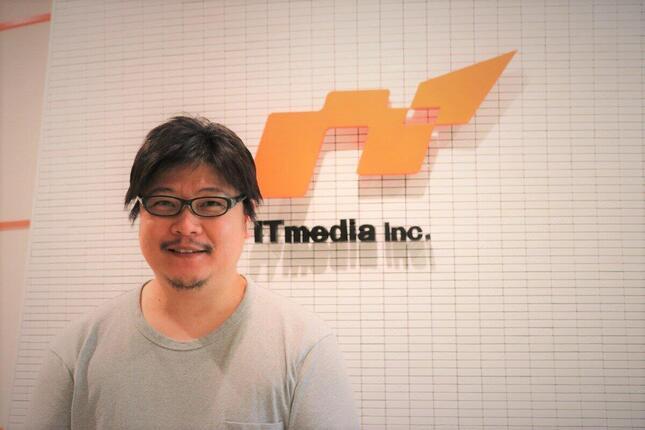 アイティメディア本社にて、「ねとらぼ」副編集長・池谷勇人さん