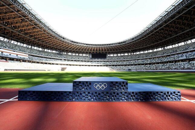 東京2020オリンピック表彰台(c)Tokyo 2020