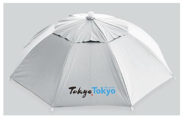 かぶる傘の試作品(画像は都公式サイトの会見資料から)