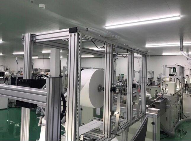 アイリスオーヤマ宮城県「角田工場」でのマスク生産の様子
