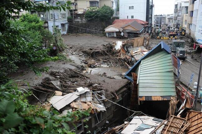 熱海で土砂災害(写真:Abaca/アフロ)